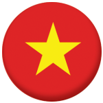 Vietnam Country Flag 58mm Button Badge